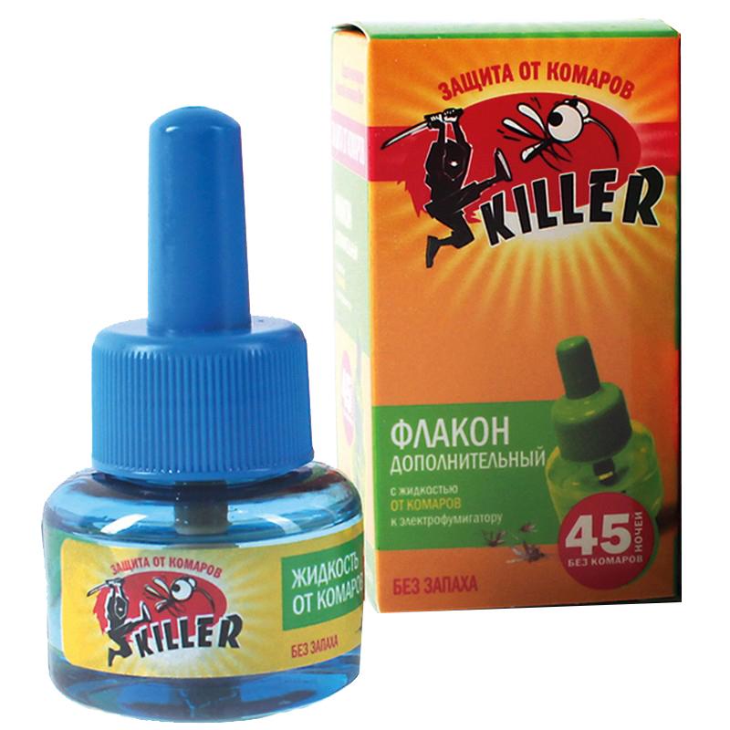 Жидкость от комаров Killer, 45 ночей, сменный флакон, зеленый