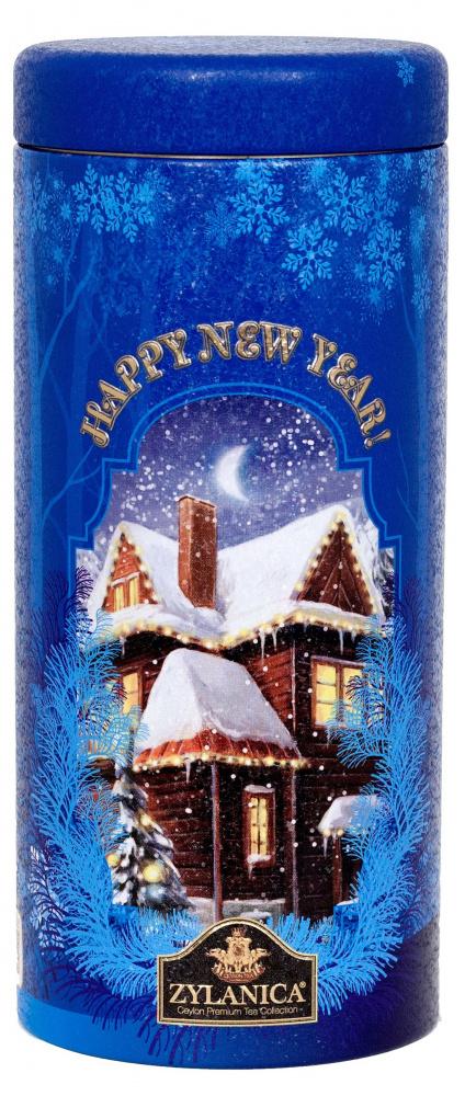 Чай Zylanica Happy New Year!, Blue, чёрный крупнолистовой, ОР, 100 г