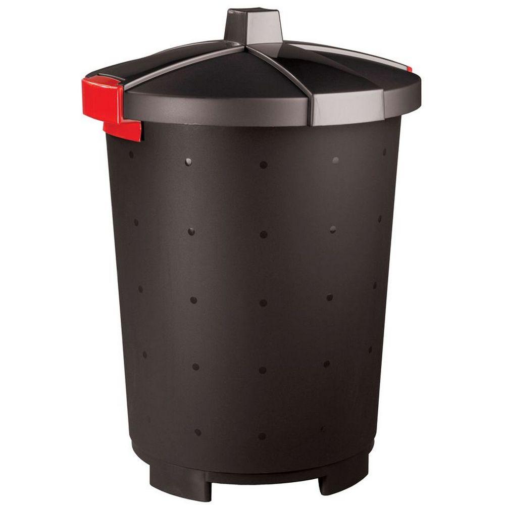Фото - Бак хозяйственный Phibo Бинго, пластиковый, черный, 45 л бак бытпласт хозяйственный 65л