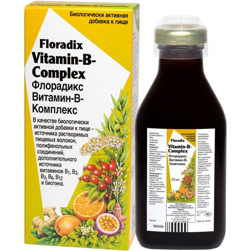 Тоник витаминосодержащий Флорадикс   Витамины группы В, биотин, 250 мл, ТМ Salus-Haus