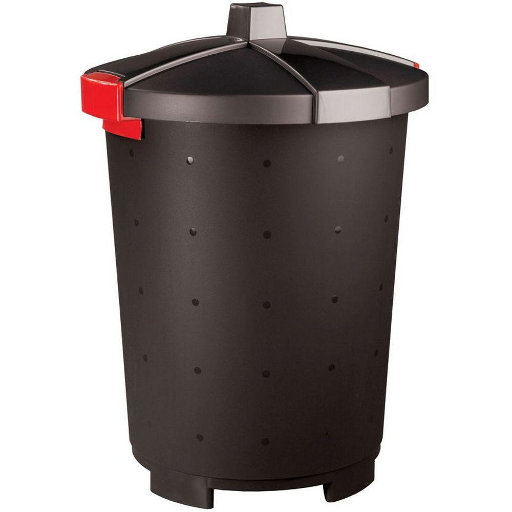 Фото - Бак хозяйственный Phibo Бинго, пластиковый, черный, 65 л бак бытпласт хозяйственный 65л