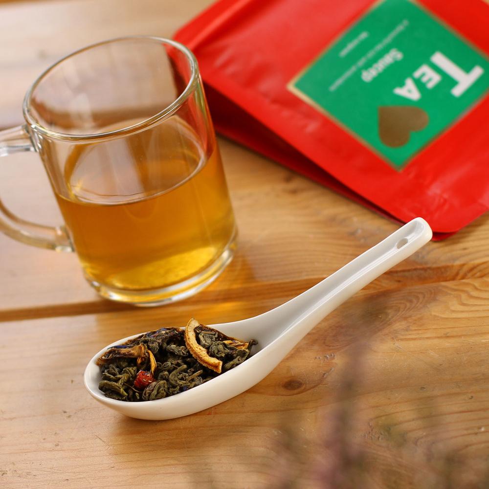 Чай Tea.Love Saucep, зеленый листовой с добавками, 180 г чай хайсон саусеп чёрный листовой c добавками 100г карт