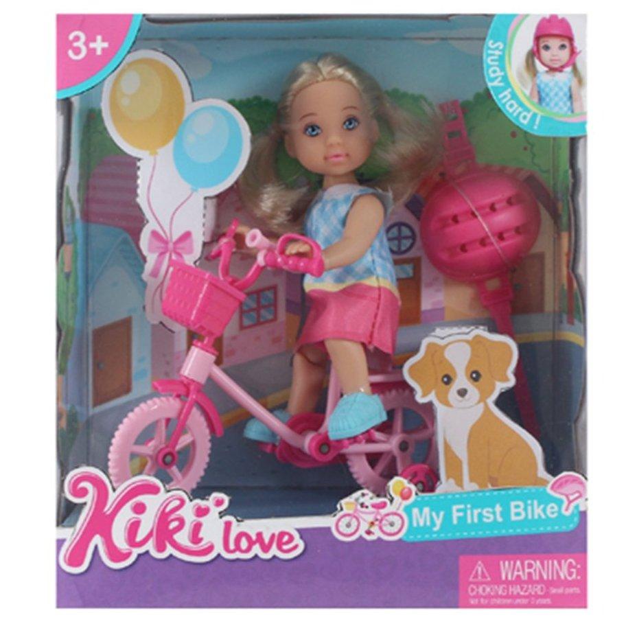 Фото - Набор игровой Наша Игрушка На прогулке, кукла 12 см, аксессуары кукла наша игрушка на прогулке 15 см лошадка