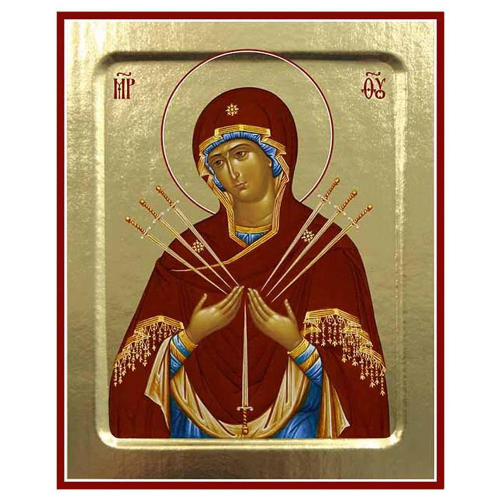 Икона Пресвятой Богородицы Умягчение злых сердец на дереве, ТМ