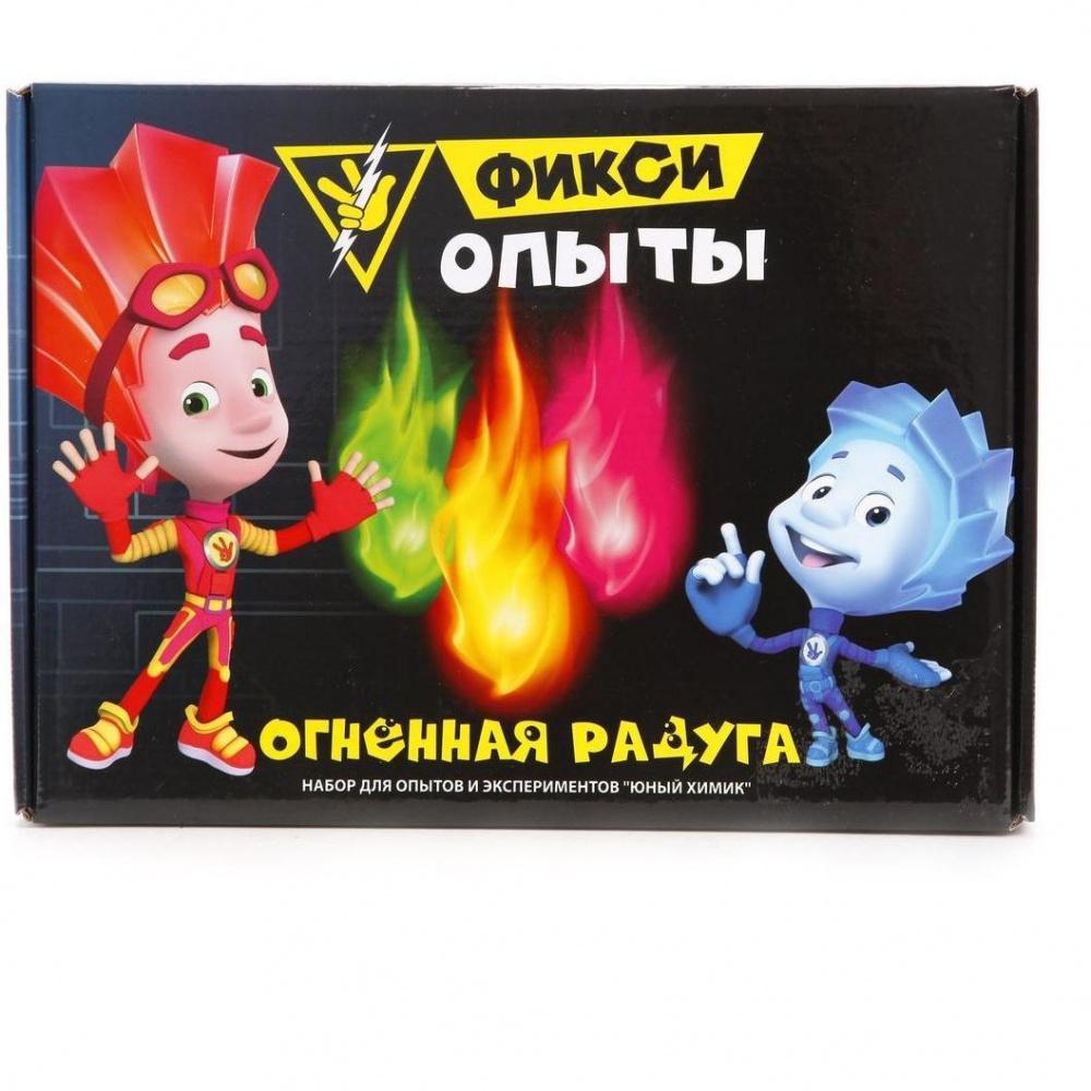 Набор для опытов Юный Химик   Фикси опыты   Огненная радуга, ТМ Инновации для детей наборы для опытов и экспериментов ranok creative набор для экспериментов огненная радуга