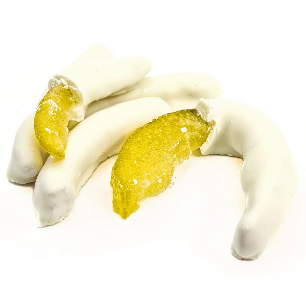 Лимонная корка в белой шоколадной глазури Подари чай, 100 г