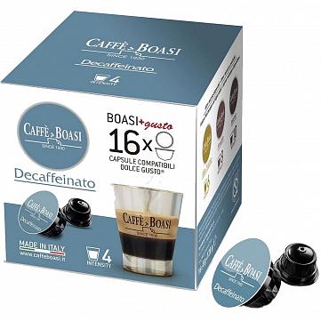 """Кофе в капсулах Caffe Boasi """"Decaffeinato"""", для кофемашины Dolce Gusto, без кофеина, 16 шт"""