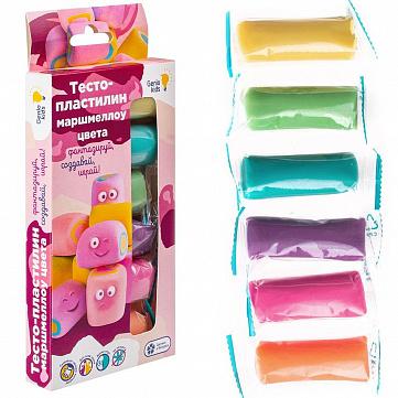 """Набор для лепки из тесто-пластилина """"Маршмеллоу цвета"""", 4 цвета"""