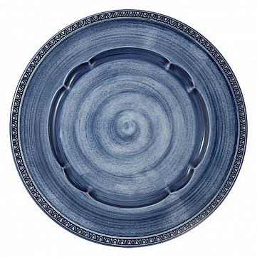 """Тарелка обеденная Matceramica """"Augusta"""", синяя, d=27 см"""